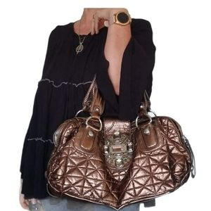 GUESS Metallic purse W jewel embellishment